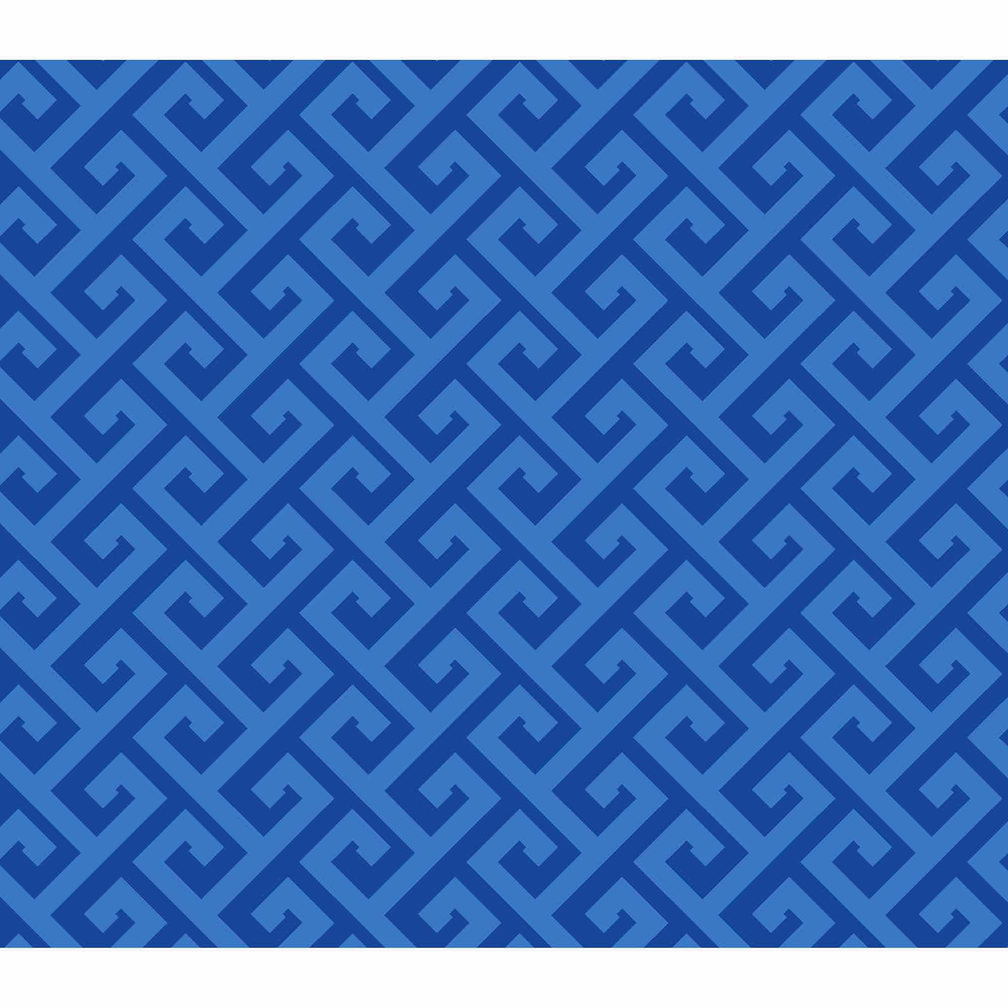 Springs Creative Cotton Blenders Tonal Greek Key, Blue, Fabric by the Yard