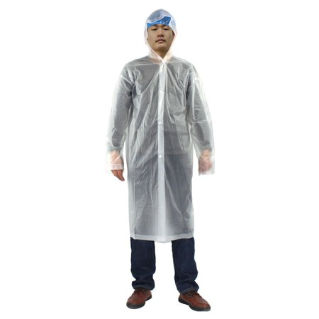 Clear One Size Adult Disposable Thicken PVC Hooded Raincoat Poncho for Travel](Clear Ponchos)