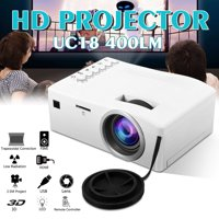 "UNIC 400 lumen Mini Portable Projector, 60 "" Display  LED Movie Projector, Home Theater Video Projector , Compatible with USB SD AV TV Laptop Game"