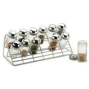 RSVP-INTL Countertop 12 Jar Spice Jar & Rack Set