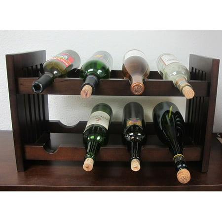 D-Art Collection Old Country 8 Bottle Tabletop Wine Rack