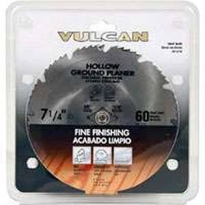(Vulcan Smooth Fast Cut Circular Saw Blade, 7-1/4 In Dia, 60 Teeth, 5/8 In Arbor, Steel)