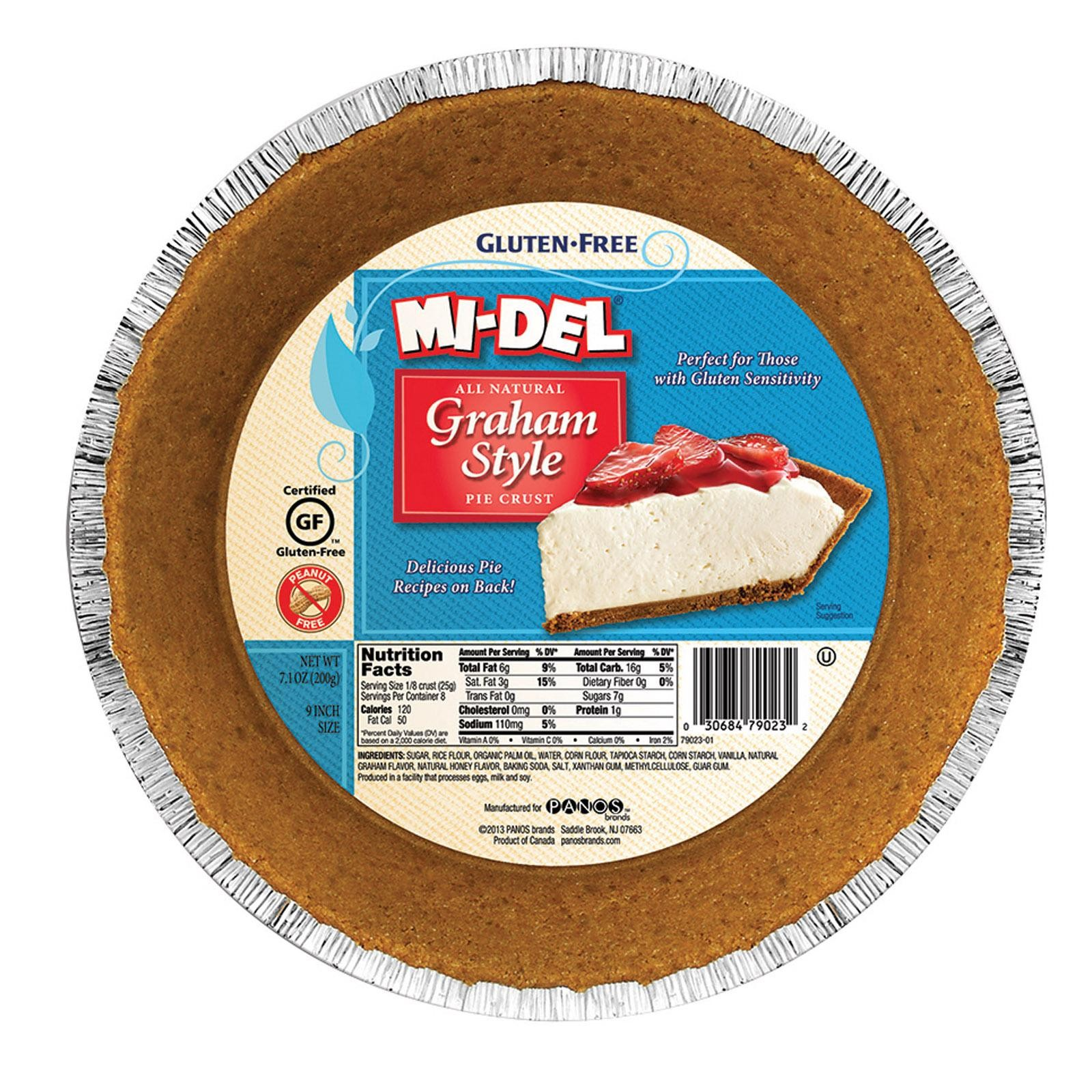 Midel Gluten Free Graham Style Pie Crust - pack of 12 - 7.1 Oz.