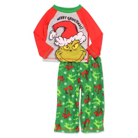 Dr. Seuss The Grinch Who Stole Christmas Toddler Boys Pajamas Set K183715SE for $<!---->
