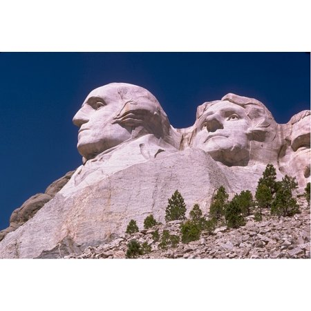 Canvas Print George Washington Mount Rushmore Thomas Jefferson Stretched Canvas 10 x 14 (Rushmore 10)