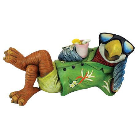 Design Toscano Just Chillin' Tiki Parrot Statue ()