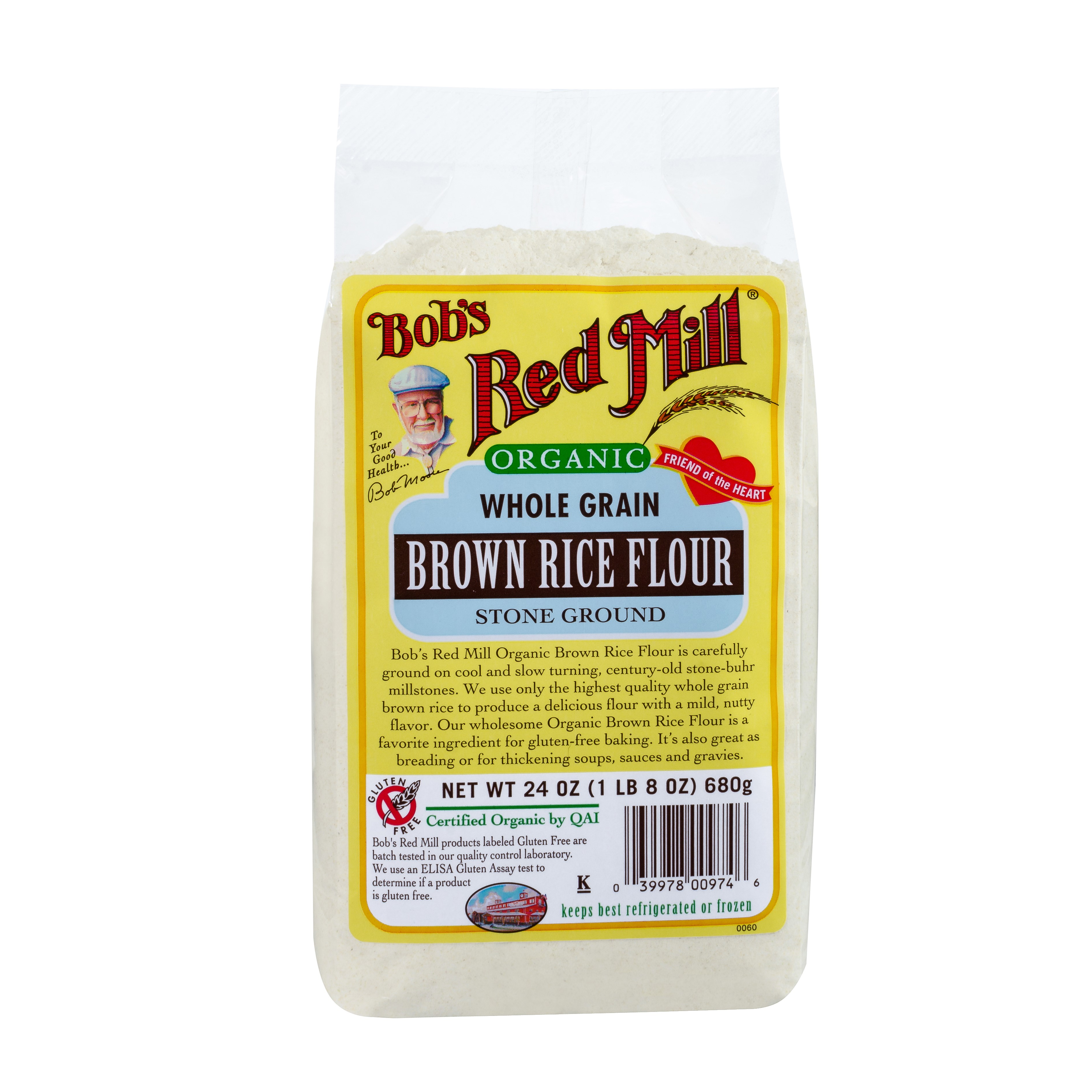 Bobs Red Mill Organic Brown Rice Flour, 24 Oz by Bob'S Red Mill
