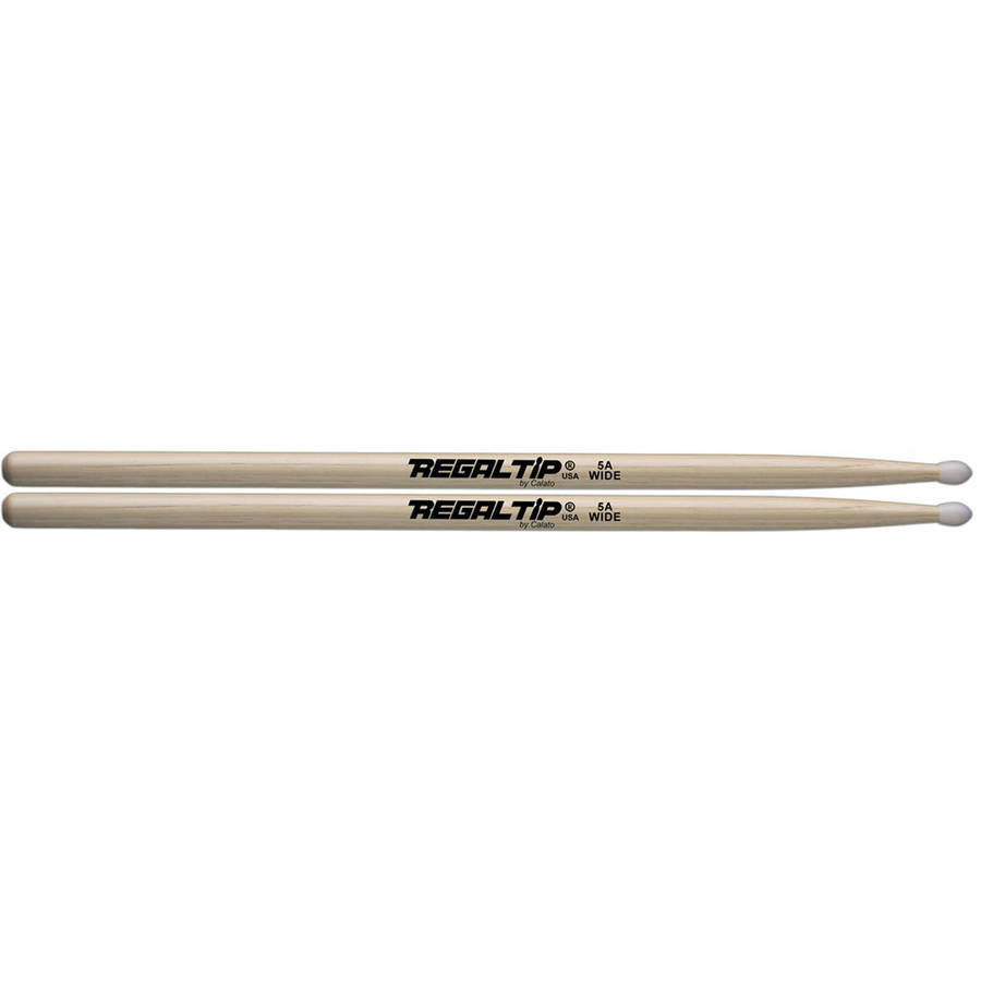 Regal Tip 005EW E-Series 5A Nylon Tip Drumsticks w  Wide Taper by Regal Tip