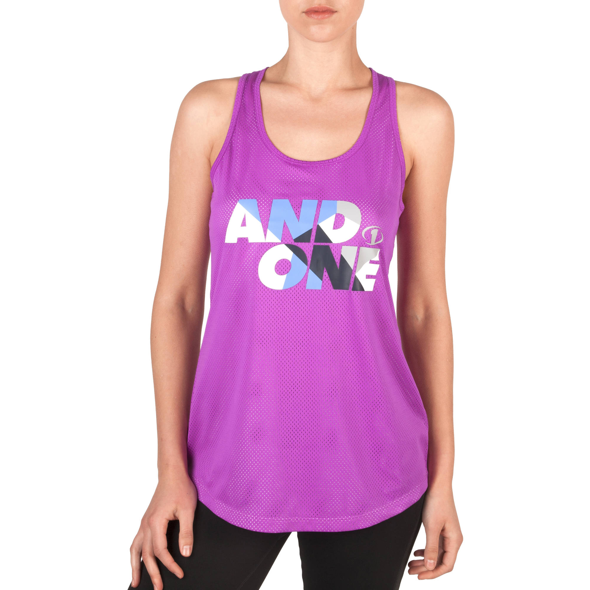AND1 Women's Graphic Double Layer Court Mesh Tank