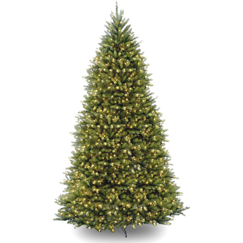 National Tree Pre-Lit 10' Dunhill Fir Hinged Artificial Christmas Tree with 1200 Clear Lights