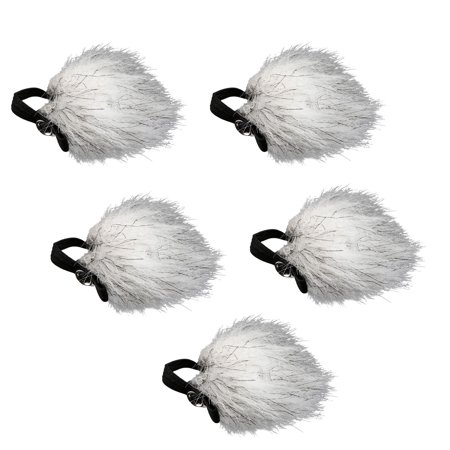 Movo WS10n Universal Furry Outdoor Microphone Windscreen Muff for All Lavalier Microphones Including Movo, Shure, Rode, Sony, Audio-Technica and More! (5 (Lavalier Windscreen)