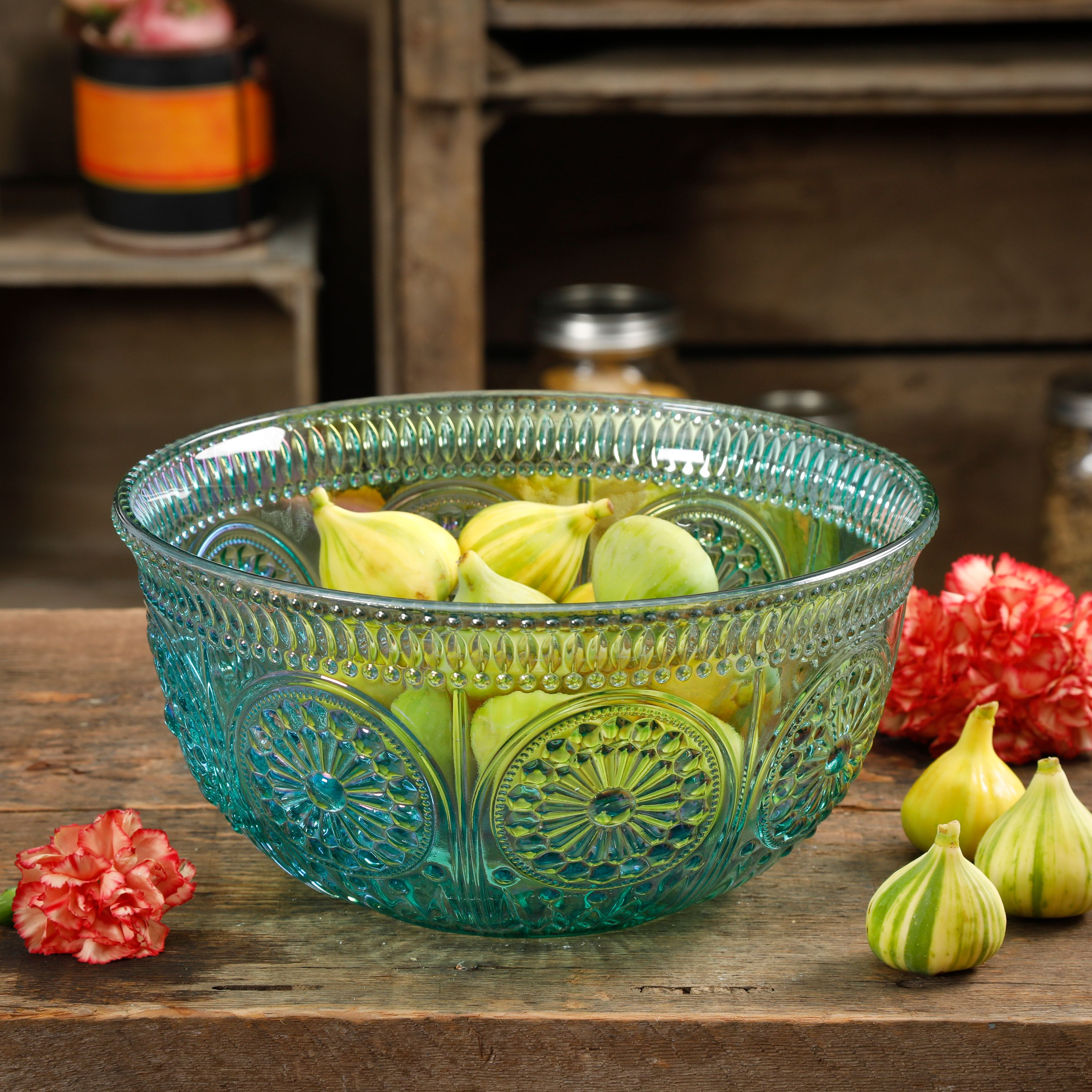 The Pioneer Woman Luster Blue 9.25-Inch Serving Bowl