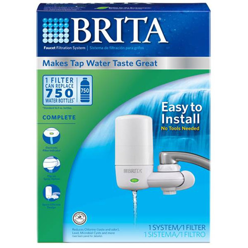 Brita Faucet Filtration System with Advanced Features White