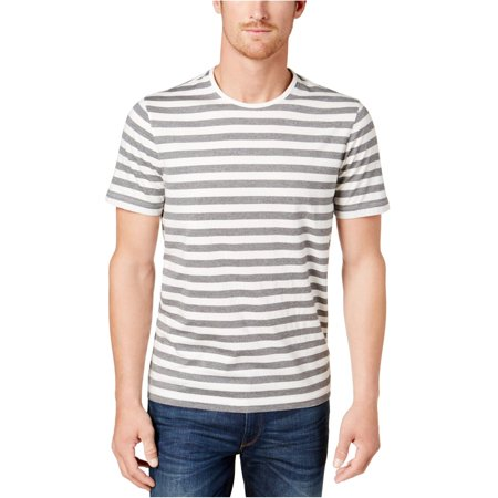Michael Kors Mens Jaspe Stripe Basic T-Shirt, Grey, X-Large ()