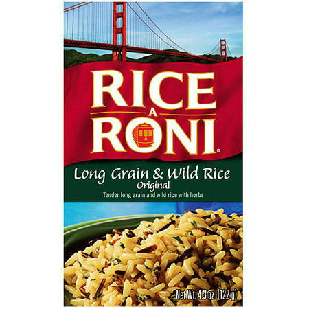 Rice Freeze Dried Meal ((12 Pack) Rice-A-Roni Long Grain & Wild Rice Mix, 4.3 oz Box)