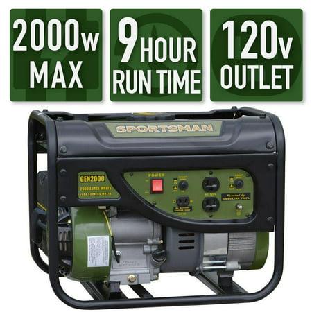 Sportsman Gasoline 2000W Portable Generator (Best Whole House Portable Generator)