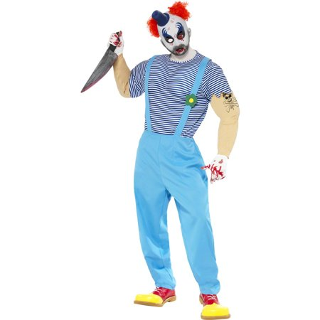 Adult Scary Bubbles the Clown Costume Smiffys 21577 - Walmart.com