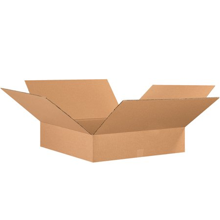 Box Partners Flat Corrugated Bxs,26x26x6,Kraft,10/BDL - BXP 26266