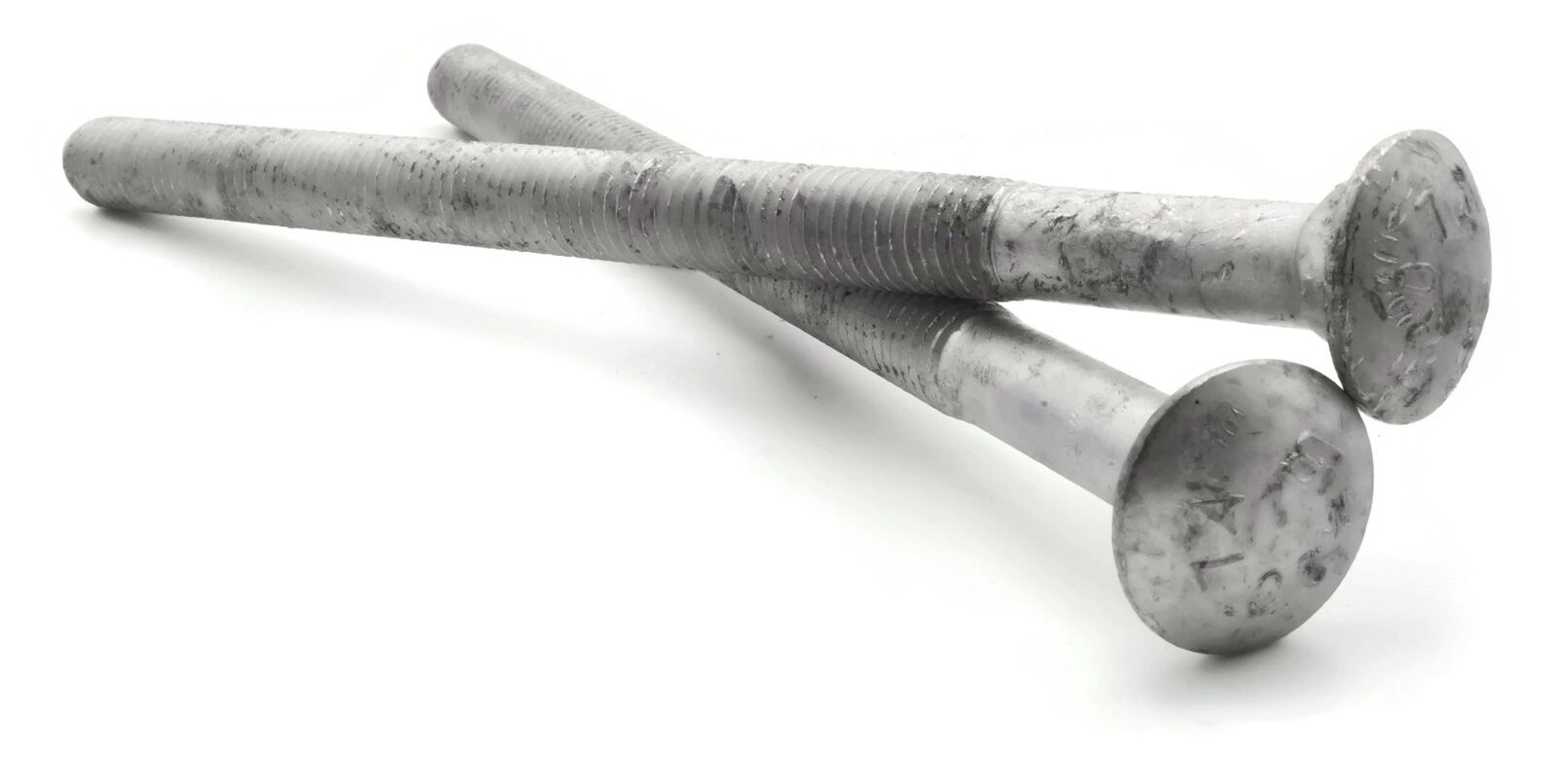 1//2-13 x 1 FT Qty-25 Carriage Bolt Hot Dipped Galvanized