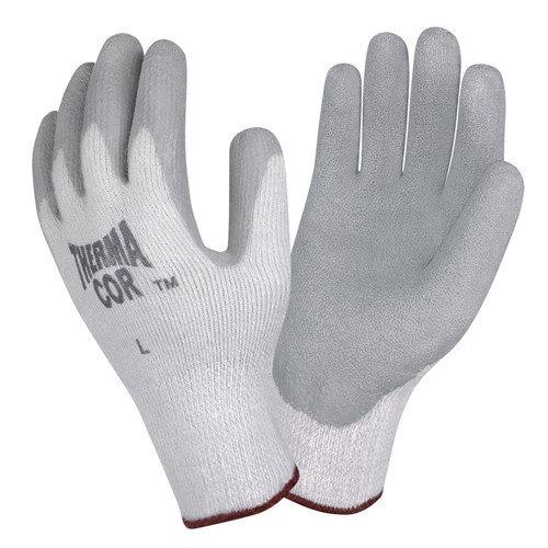Cordova Thermal-Cor Gray Crinkle Latex Glove in Gray - Large (Set of 2)