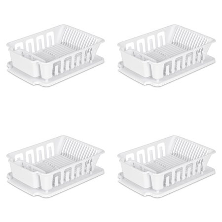 Sterilite, Large 2 Piece Sink Set, White , Case of 4 2 Comp Sink Drainboard