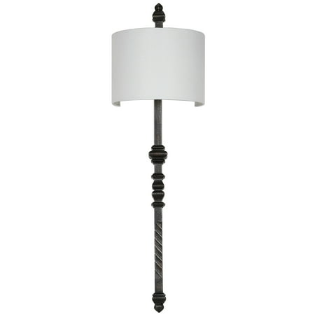 Covington Two Light (Safavieh Covington 40 in. High Wall Sconce, Silver)