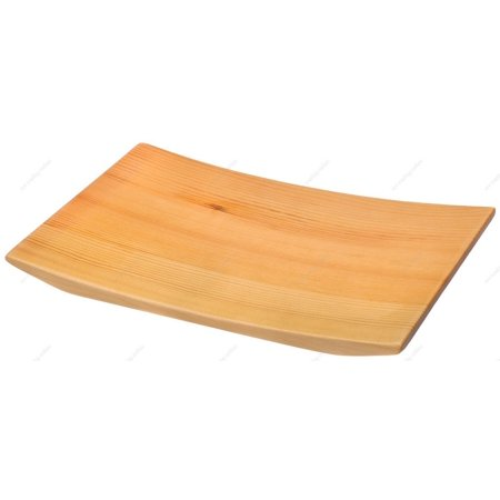 M.V. Trading BST84NC Wooden Nigiri Sushi Geta Plate Tray and Serving Board, 8