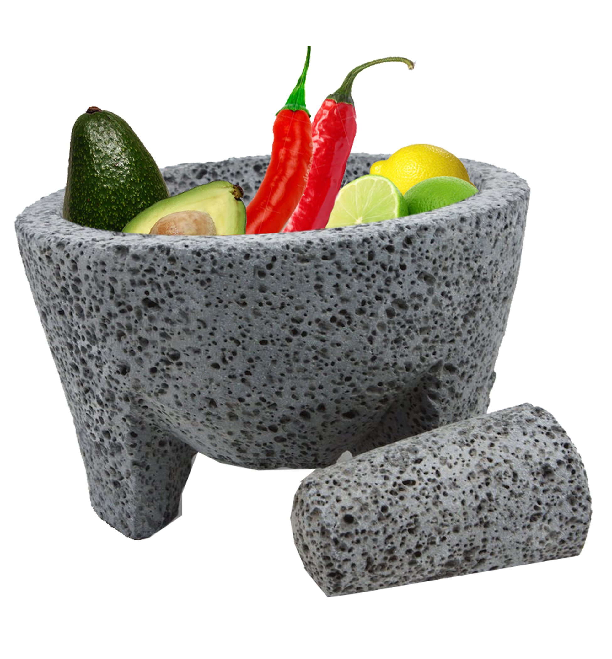 TLP Molcajete Mexican Mortar and Pestle 8.5 in - Handmade - Mortar and Pestel (Pack of 1)