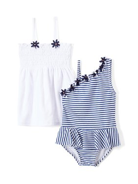 Freestyle Revolution One-Piece Swimsuit & Terry Cover-Up Dress, 2pc Set (Baby Girls & Toddler Girls)