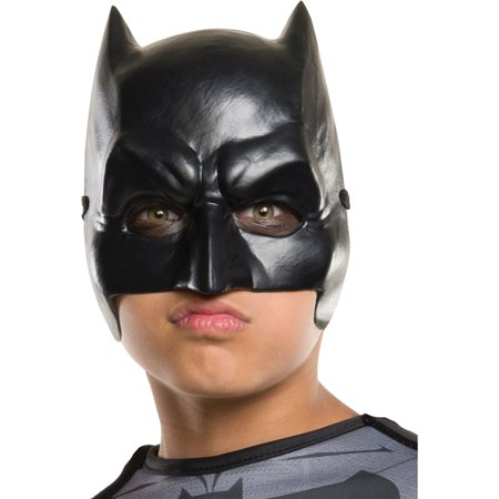 Morris Costumes Boys Dawn of justice Batman Plastic Half Mask Child, Style RU32544