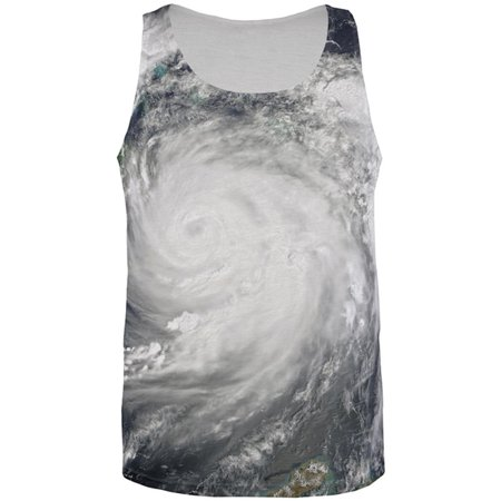 Halloween Gulf Coast Hurricane Costume All Over Mens Tank - Bass Coast Halloween