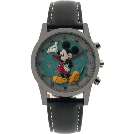 Mickey Men's Analog Watch, Black Strap