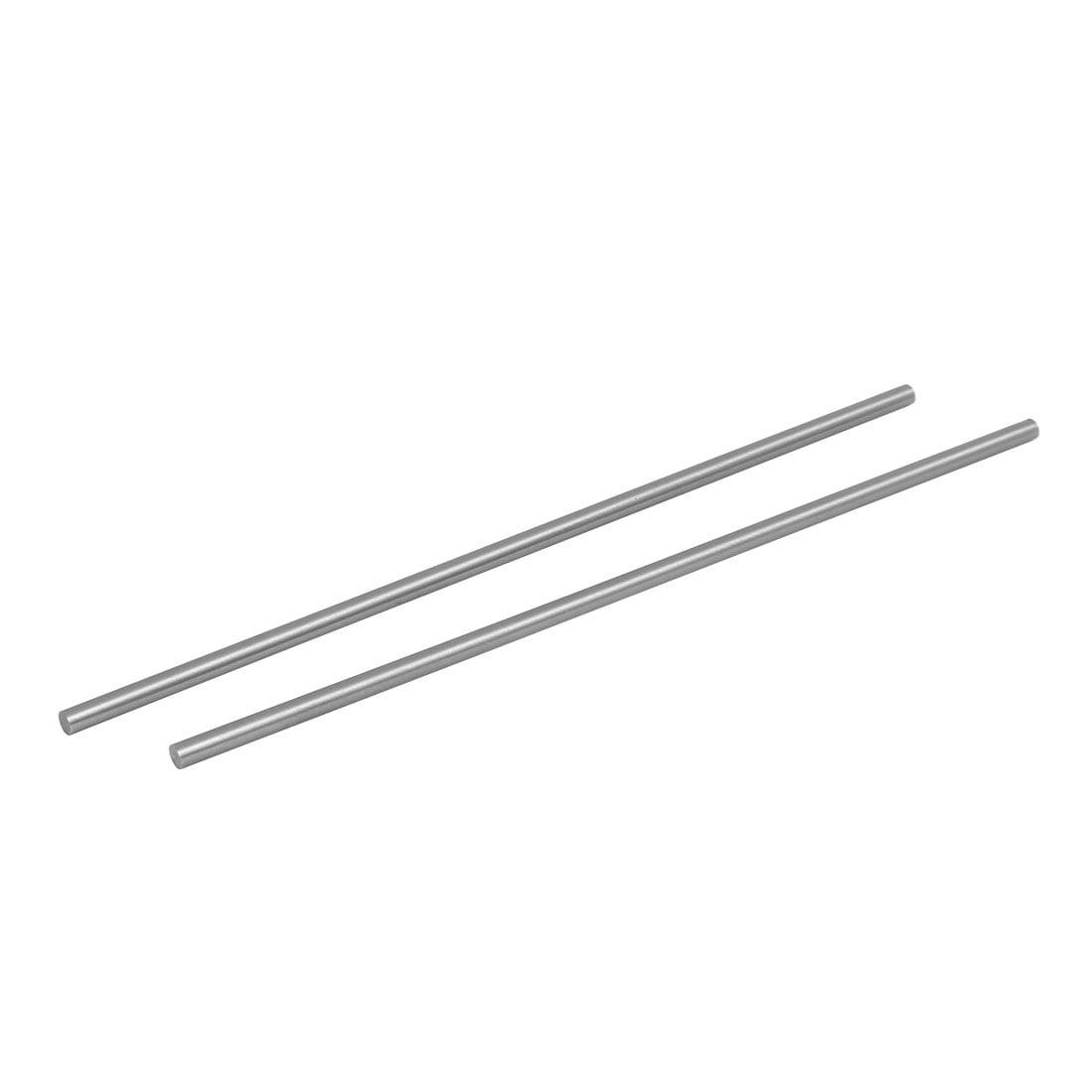 4.5mm Dia 200mm Length HSS Round Shaft Rod Bar Lathe Tools Gray 2pcs by Unique-Bargains