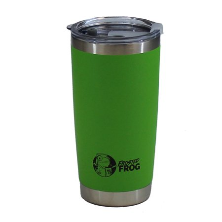 Frost Tumbler (Frosted Frog 20oz Green Tumbler Vacuum Insulated w/ Stainless Straw and)