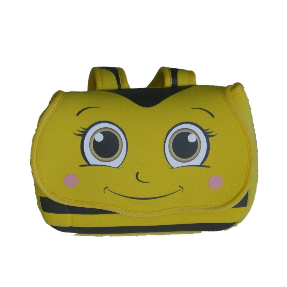 Arctic Zone Yellow Bumble Bee Soft Lunch Box Neoprene Bag Snap In Liner Lunchbox
