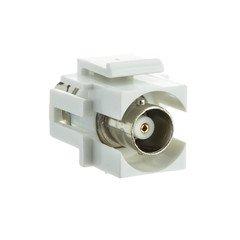 White BNC Keystone Jack Insert - 330-120WH