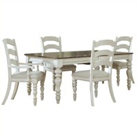 Hillsdale Furniture Pine Island 5-Piece Dining Set, with Ladder Back Chairs