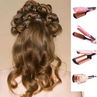 Three Barrel Curling Iron Wand with LCD Temperature Display Ceramic Tourmaline Triple Barrels Dual Voltage Crimping Tool  Best Hair Waver for Beachy Frizz Free Waves Pink or Gold
