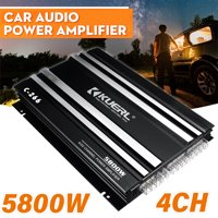 5800W 4 Channel Home Stereo Amplifier Receiver Car Power Amplifier HiFi Car Amplifier Board,Black