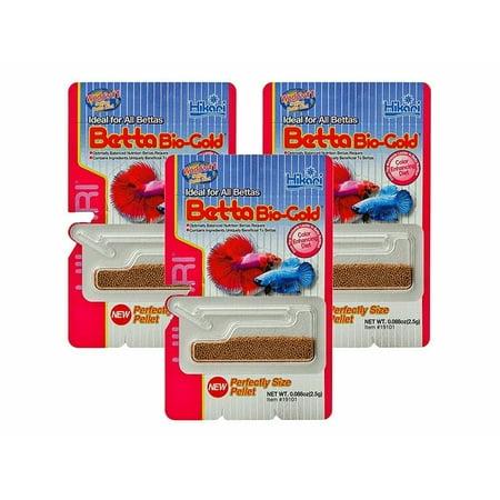 Hikari Betta Bio-Gold Baby Pellets Fish Food Bundle Bonus Pack 3 Pack ()