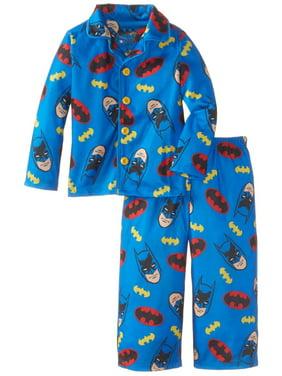 Komar Kids Little Boys' Batman Button Front Pajama Set, Blue, Size: 2T