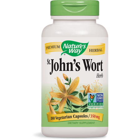 Nature's Way St. John?s Wort Herb 350 mg Non-GMO Project Verified, Tru-ID? Certified, 180 Ct
