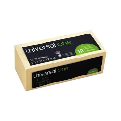 Universal Recycled Sticky Notes UNV28062
