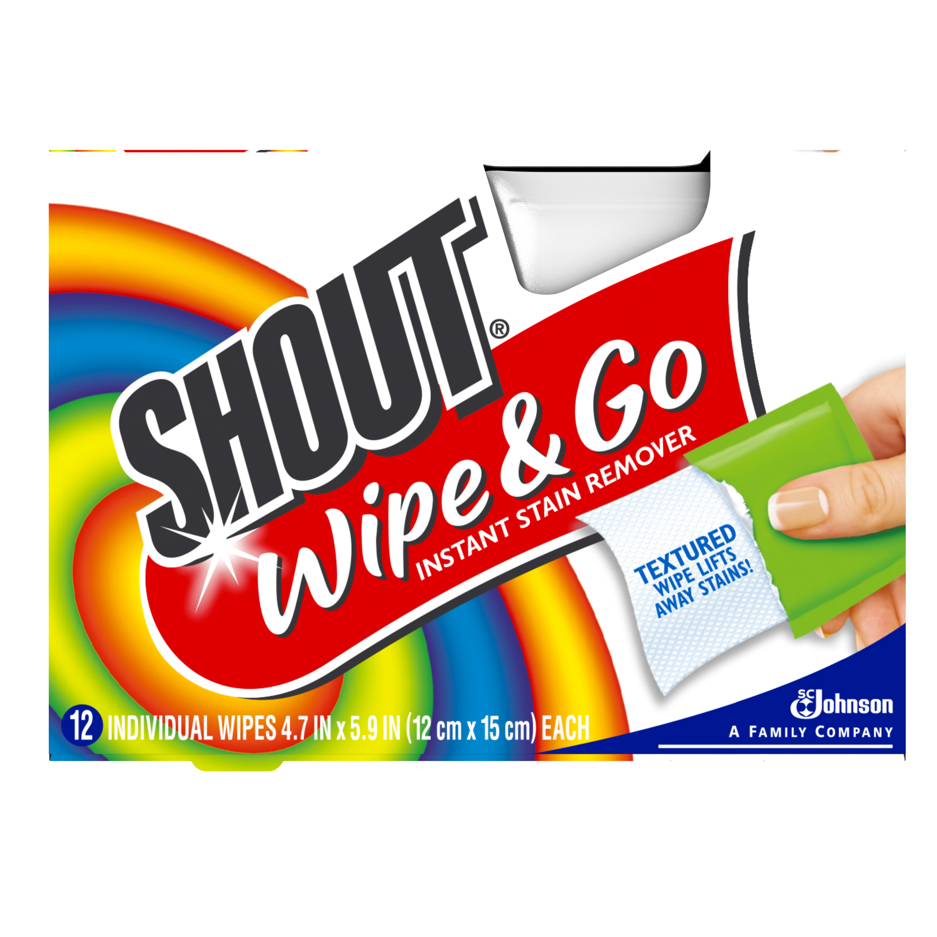 Shout Wipe & Go Wipes 12 count