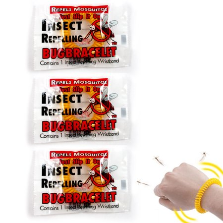 - 3 Anti Mosquito Repellent Bracelet Insect Bug Repeller Wrist Band Long Lasting