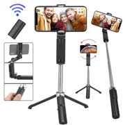Selfie Stick 360° Rotation, Extendable Selfie Stick Tripod with Detachable Wireless Remote and Tripod Stand Selfie Stick Fit for iPhone Samsung Galaxy Huawei Google LG Moto More