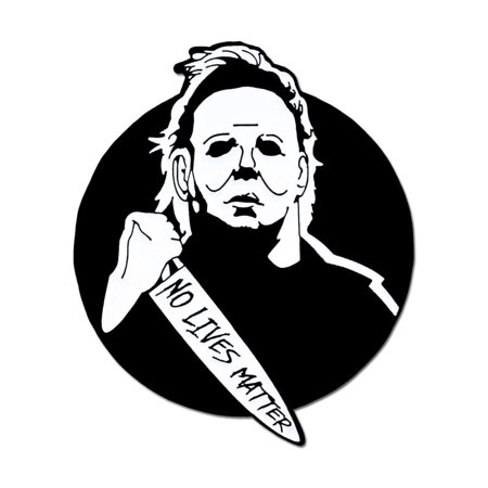 Halloween Stick Pins (PinMart's Michael Myers No Lives Matter Halloween Enamel Lapel)