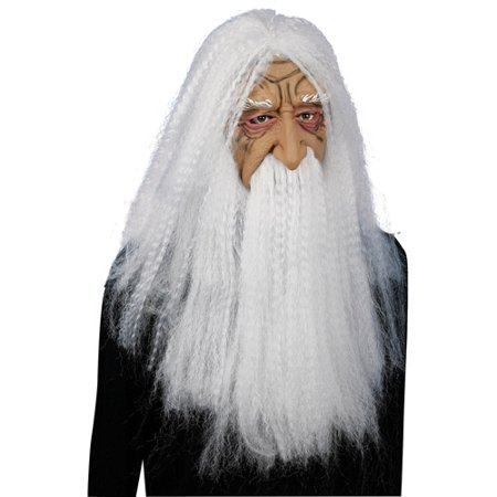 Super Hair Wizard Mask Adult Halloween Accessory