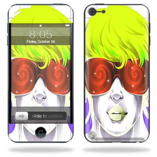 Mightyskins Protective Skin Decal Cover for Apple iPod Touch 5G (5th generation) MP3 Player wrap sticker skins Spin