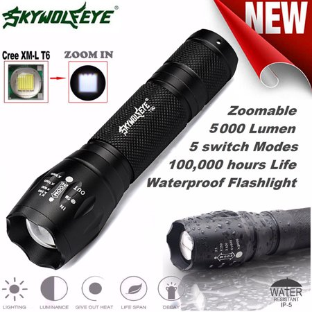 Tactical LED Flashlight G700 SkyWolfeye X800 Zoom Military (Grande 4 Light)